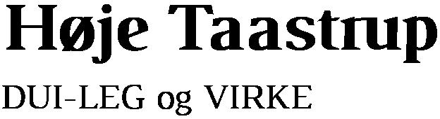 DUI – Høje Taastrup