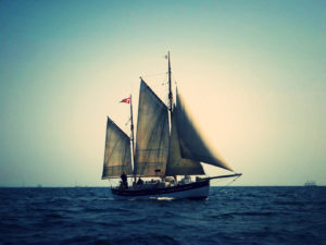 Skibet Træskib båd sejlads DUI